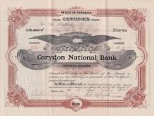 Corydon National Bank certificate