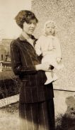 Blanch Sharp Applegate (1902-1989) holding her first child, Janice (1926-1979)
