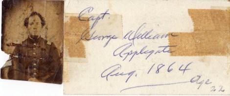 G. W. Applegate I (1842-1910), Civil War photo, August 1864.