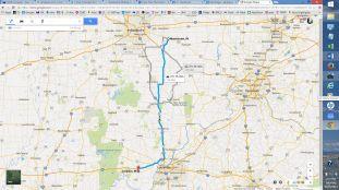 Corydon to Morristown 125 miles