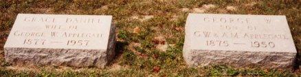 Geo Wm Applegate II and Grace Daniel Applegate headstones