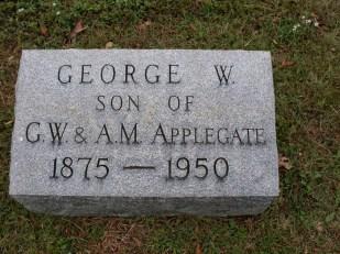 Geo Wm Applegate II headstone