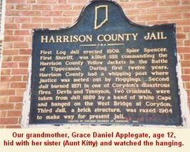 Harrison County Jail sign