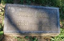Julia Anne Gordon Patten headstone