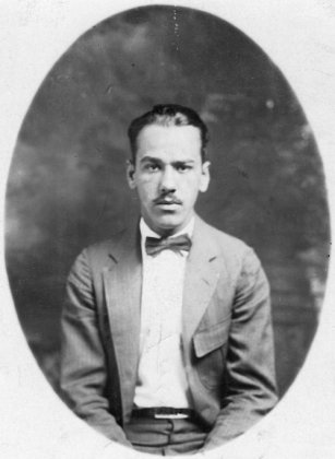 Ted Applegate, fall of 1924, when he was working part-time as chauffeue to Indiana Governor Branch, while attend medical school.