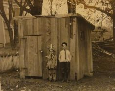 Ted and brother Geo Wm Applegate III, about 1910