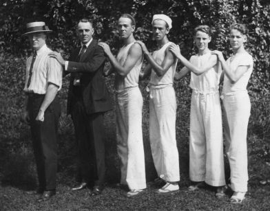 Fred Daniel (1876-1924), J. Carlton Daniel (1891-1981), Geo Wm Applegate III (1900-1973), Ted Applegate (1903-1959), Bill Daniel (1905-1985, son of dentist Fred Daniel), Bill Buchanan (1906-1983, son of Kitty Daniel Buchanan)