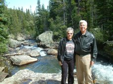 Barb and Don, Sept. 5, 2004, at Copeland Falls in Colorado