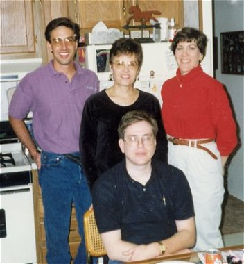 Barb with Theresa, John and Bill, Sept. 20, 1996
