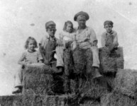 Rica and Barb with Lowel Sibert, 1946 or 1947