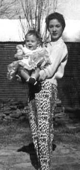 Rica holding Julie, 1957