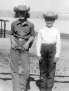 Rica and Barb, May 1952, Monahans