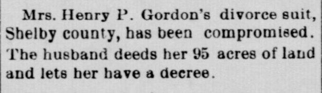 Gordon divorce, 1899
