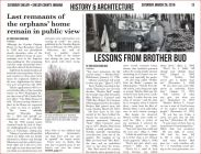 Article about the Gordon orphans home, pg 1