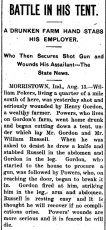 Article about Henry Gordon, Aug. 1902