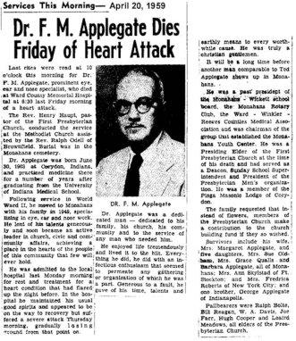 Ted Applegate (1903-1959) obituary