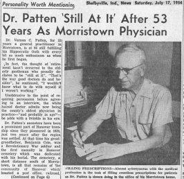 V. C. Patten article, July 17, 1954, pg. 1