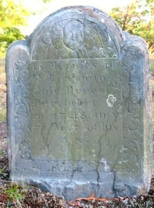 Benjamin Cole (1678-1748) stone