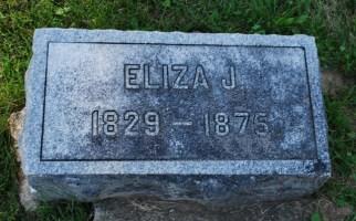 Eliza Jane Cole Patten (1829-1875) stone