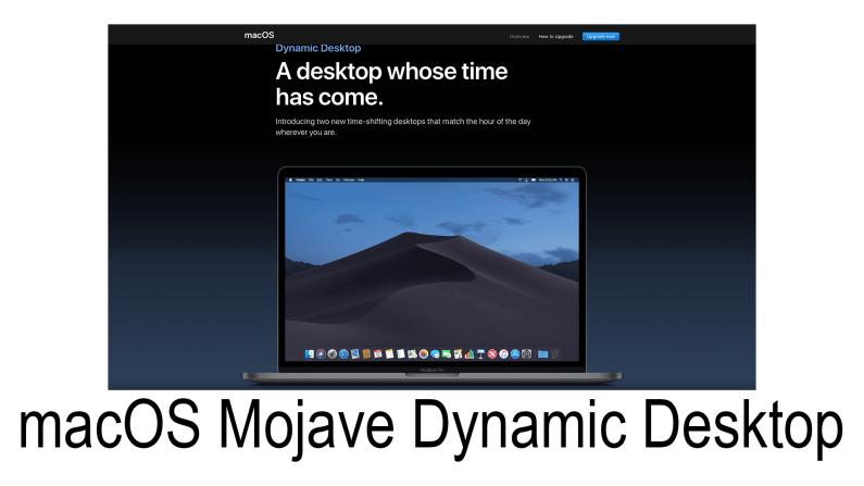 macOS Mojave: Dynamic Desktop