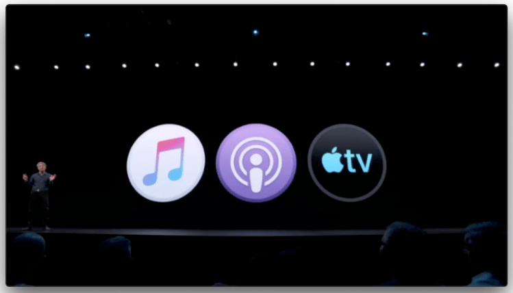 Music, Podcast, AppleTV