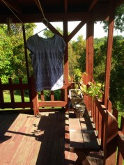 a clothes line for sunny days.