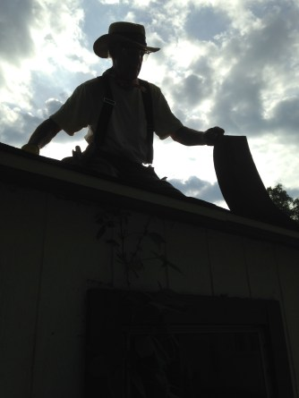silhouette on the roof