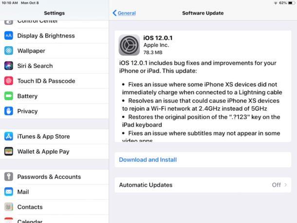 تم إصدار التحديث iOS 12.0.1  لأجهزة أيفون و أيباد [روابط تحميل IPSW]