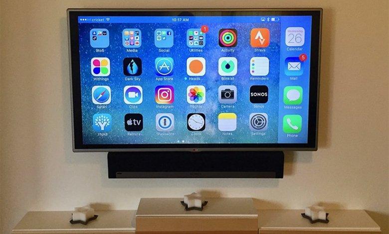 كيفية توصيل الايفون والايباد بالشاشة أو التلفزيون