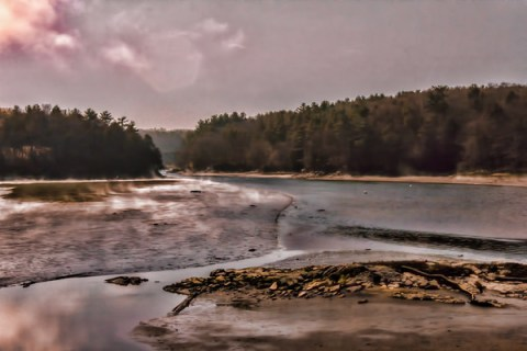 Mist on the Presumpscott River