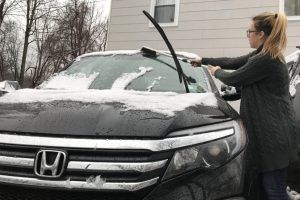 Snowy car on school days a problem?