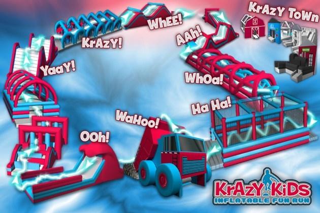 DISCOUNT: HV Crazy Kids Inflatable Fun Run
