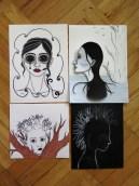 Illustrations in progress by Sarah Y. Varnam