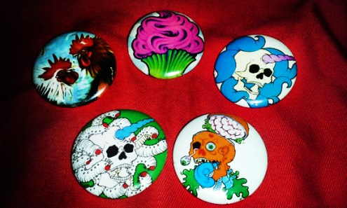 Pin-back buttons by Ashley Pleasant