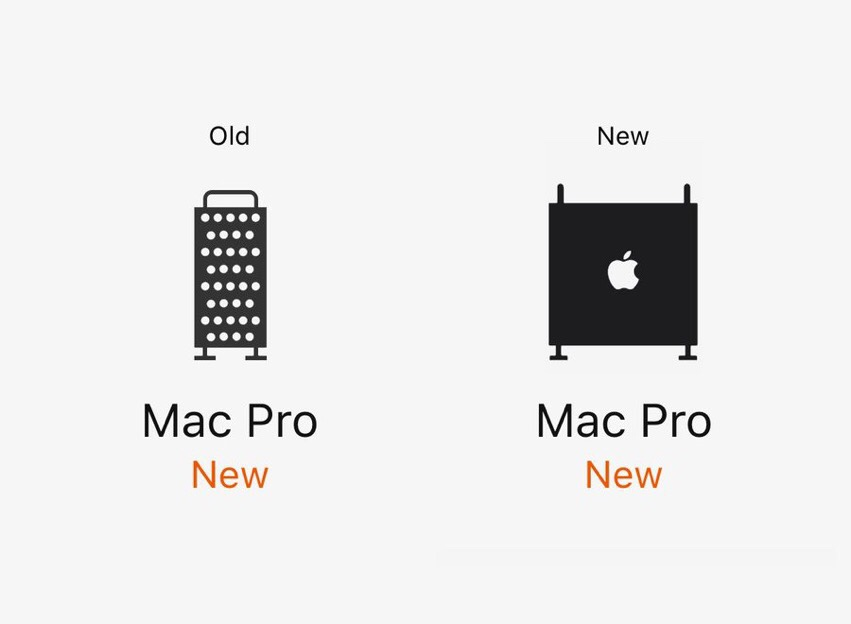 Apple alters Mac Pro icon on website, because it looked
