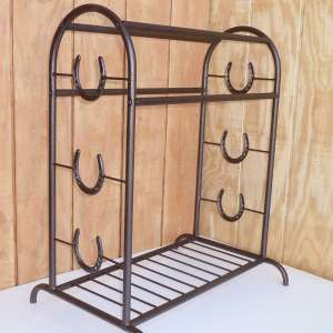 Copper trophy saddle rack