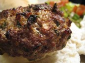Indian spiced beefburgers