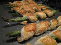 Asparagus and puff pastry cigars