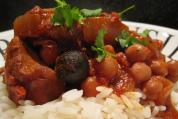 Chicken, chorizo and chickpea stew