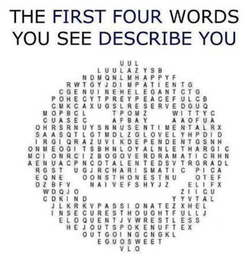 The First Four Words You See Describe YouApplePins.com