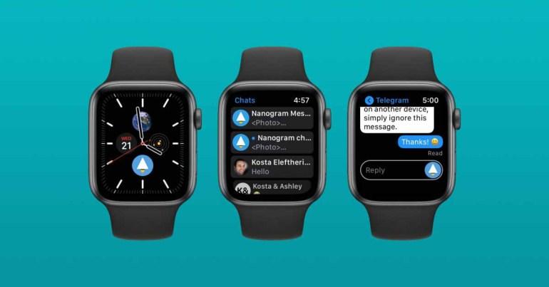 «Nanogram Messenger» - все возможности Telegram на ваших Apple Watch