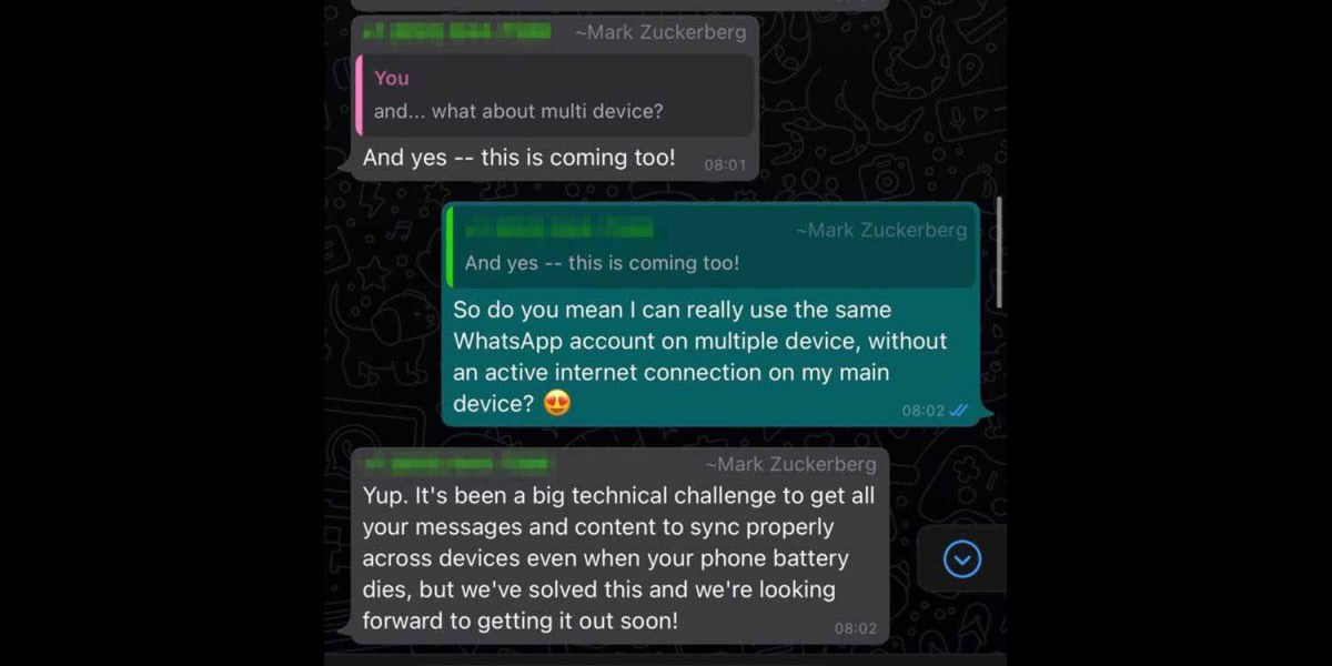 Официальный намек на приложение WhatsApp для iPad