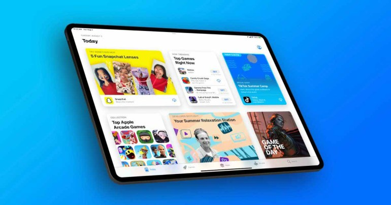 События App Store начинают появляться на iPadOS 15, начиная с TikTok