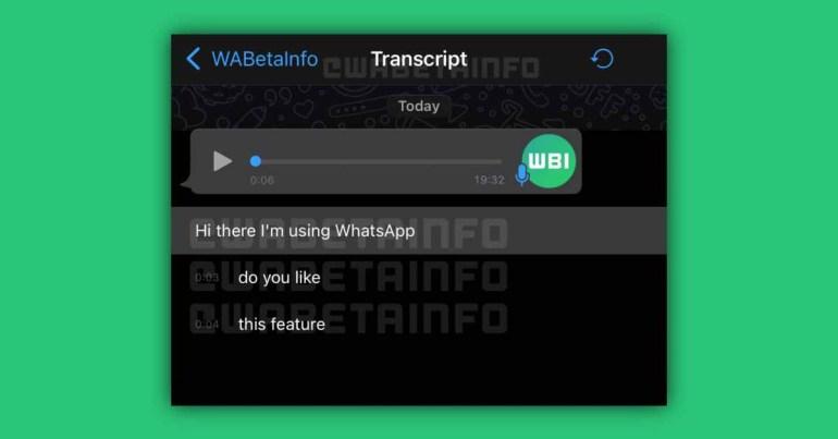 WhatsApp для iOS добавит функцию транскрипции голосовых сообщений