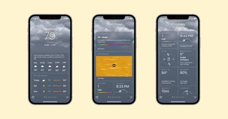 Практический опыт: iOS 15 представляет собой совершенно новое приложение Weather с картами, анимацией и многим другим.
