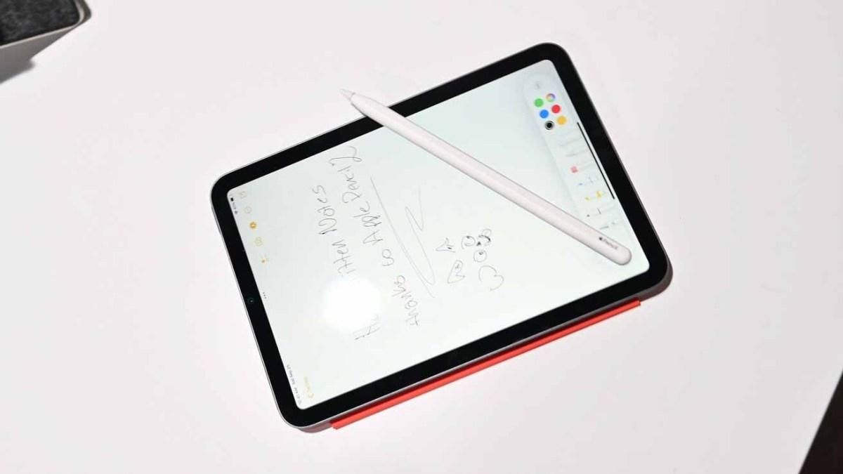 Apple Pencil 2 на iPad mini 6