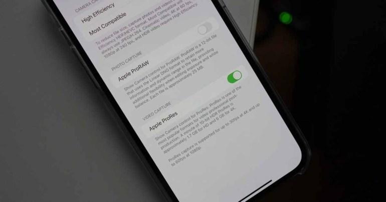 iOS 15.1 beta 3 включает встроенную функцию захвата видео ProRes для iPhone 13 Pro и iPhone 13 Pro Max