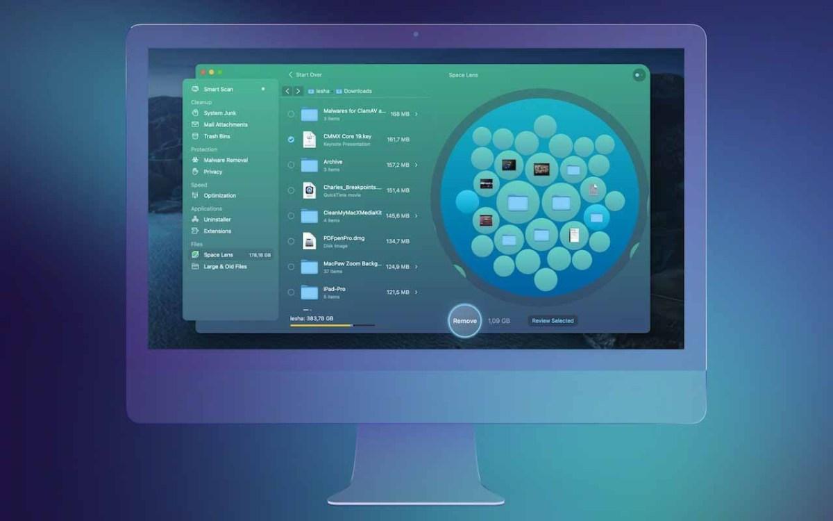 Функция Space Lens - это инновационный способ визуализировать, что занимает много места на диске вашего Mac.