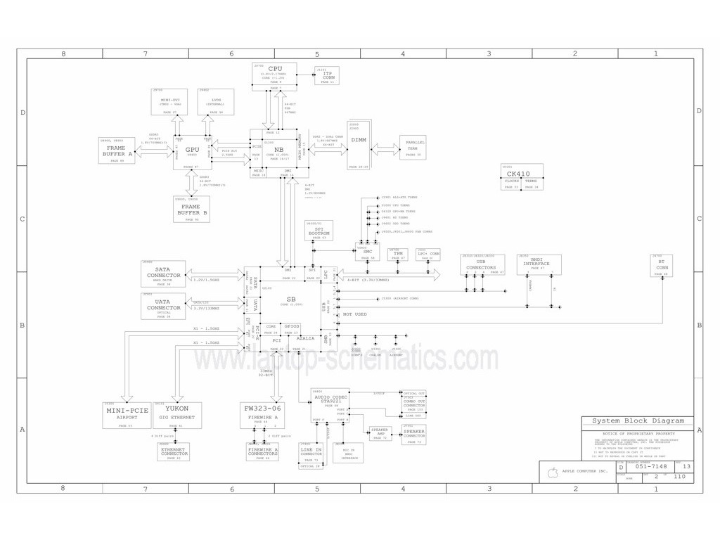 Apple 820 A Schematic Apple 820 A Schematic