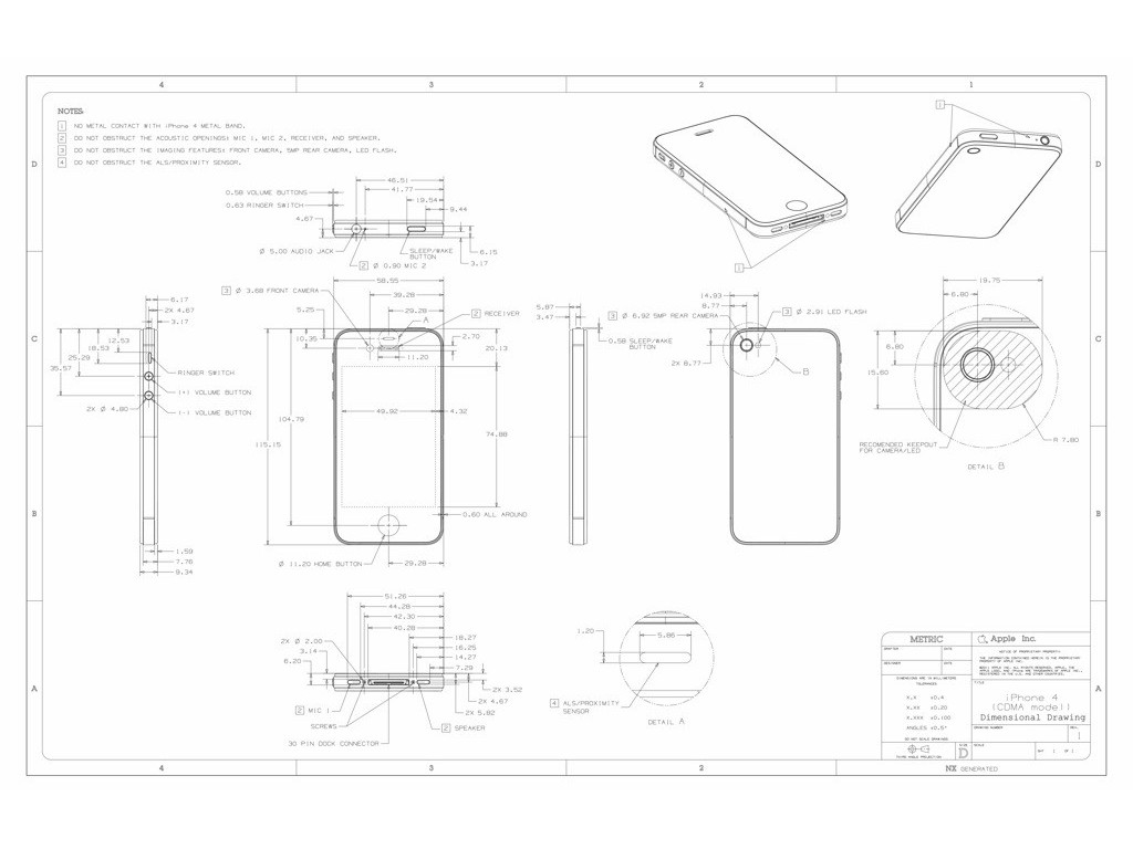 APPLE IPHONE 4 CDMA 820-2766-C SCHEMATIC [APPLE IPHONE 4